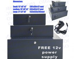 "DVR Lock Safe Box Heavy Duty DVR Protection 18"" x 18"" x 5""  m"