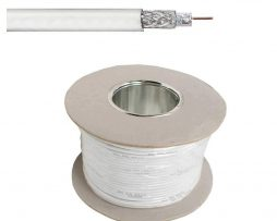 100m RG59 Coax white Cable suitable for Hikvision PoC Power over Coax Cameras