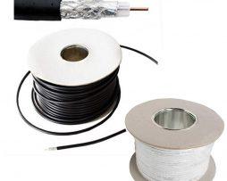 100m RG59 Coax Cable black/white