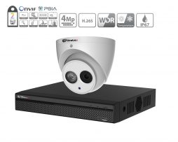 Prolux IP CCTV System - (2x) 4MP Starlight ePoe IP Camera - 4 Channel NVR