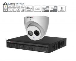 Prolux IP CCTV System - (2x) 4MP Starlight ePoe IP Camera - 4 Channel NVR