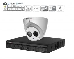 Prolux IP CCTV System - (8x) 4MP Starlight ePoe IP Camera - 8 Channel NVR