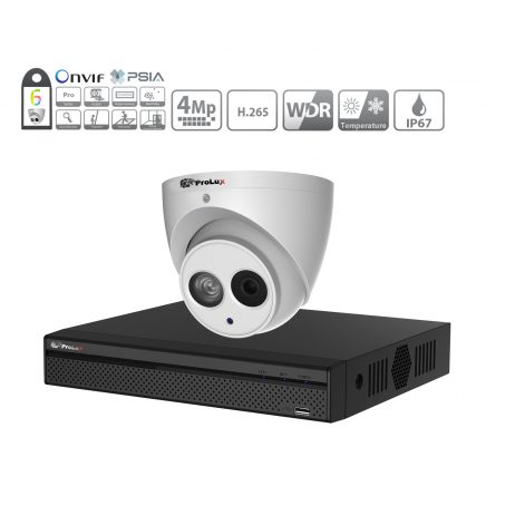 Prolux IP CCTV System - (8x) 4MP Starlight ePoe IP Camera - 8 Channel NVR