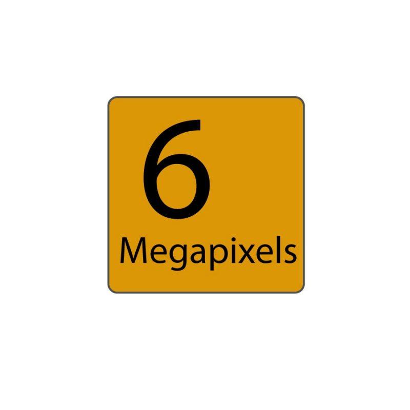6 Megapixels