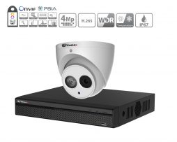 Prolux IP CCTV System - (6x) 4MP Starlight ePoe IP Camera - 8 Channel NVR