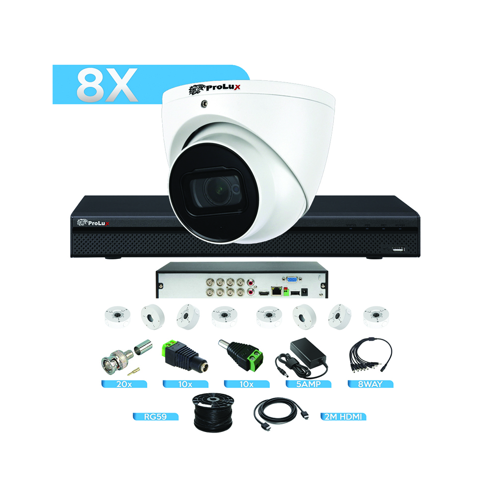 8 Channel 8MP CCTV Security System Trade Bundle for CCTV Installers