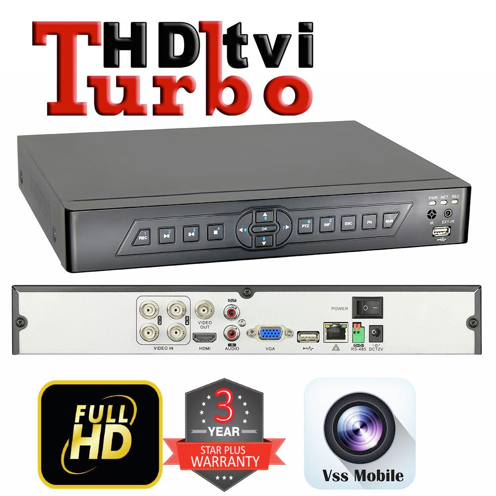 knight tech 4 channel hd tvi turbo full hd 1080p tri hybrid cctv digital video recorder knt. Black Bedroom Furniture Sets. Home Design Ideas
