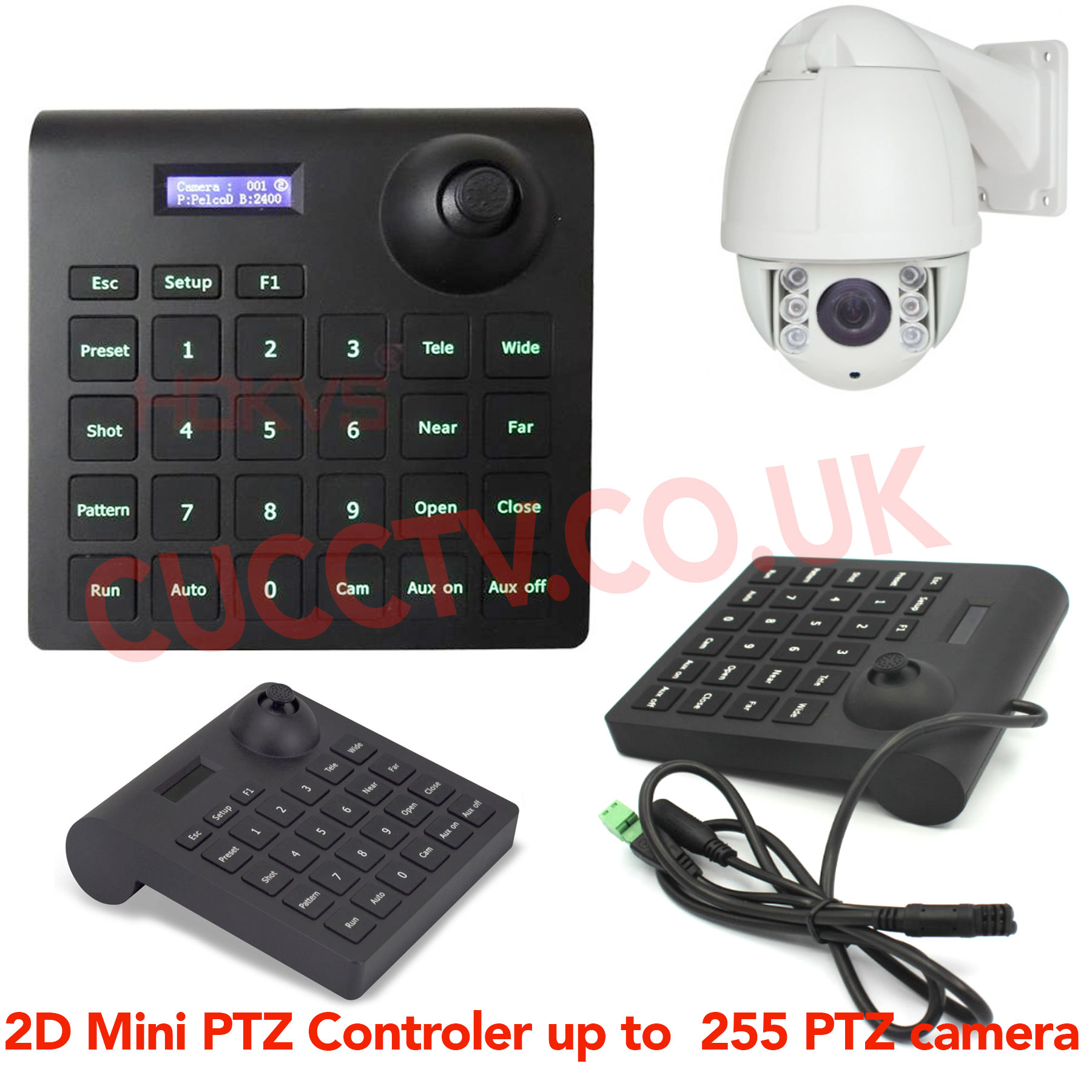 Portable Mini Small 2d Ptz Keyboard Controller Joystick Support Pelco Rs485 Wiring Diagram D P Hikvision And Dahua Protocol High Speed Dome Camera