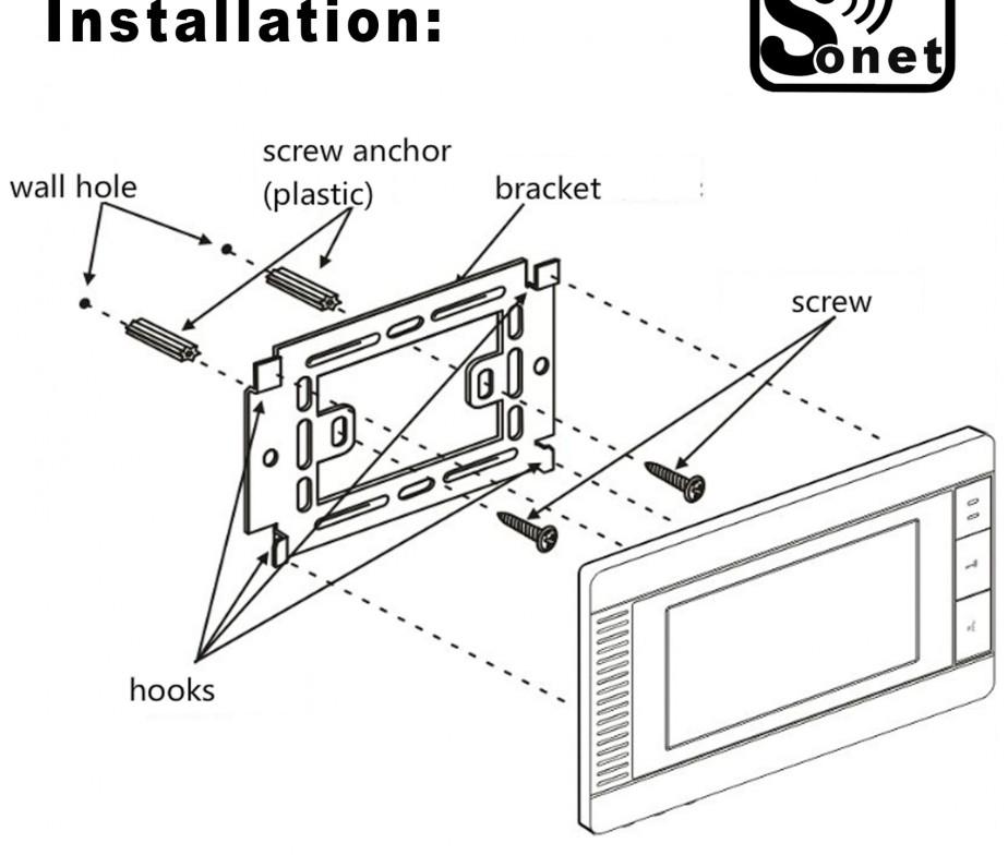 sonet villa intercom 7 u2033 lcd colour video door entry system