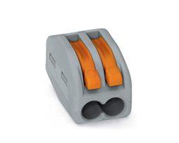 WAGO 2 Conductor Compact Lever Splicing Connector 32A Grey/Orange