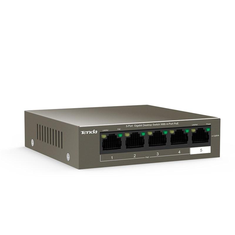TEG1105P-4-63W / Switch / 5-Port Gigabit Desktop Switch with 4-Port PoE
