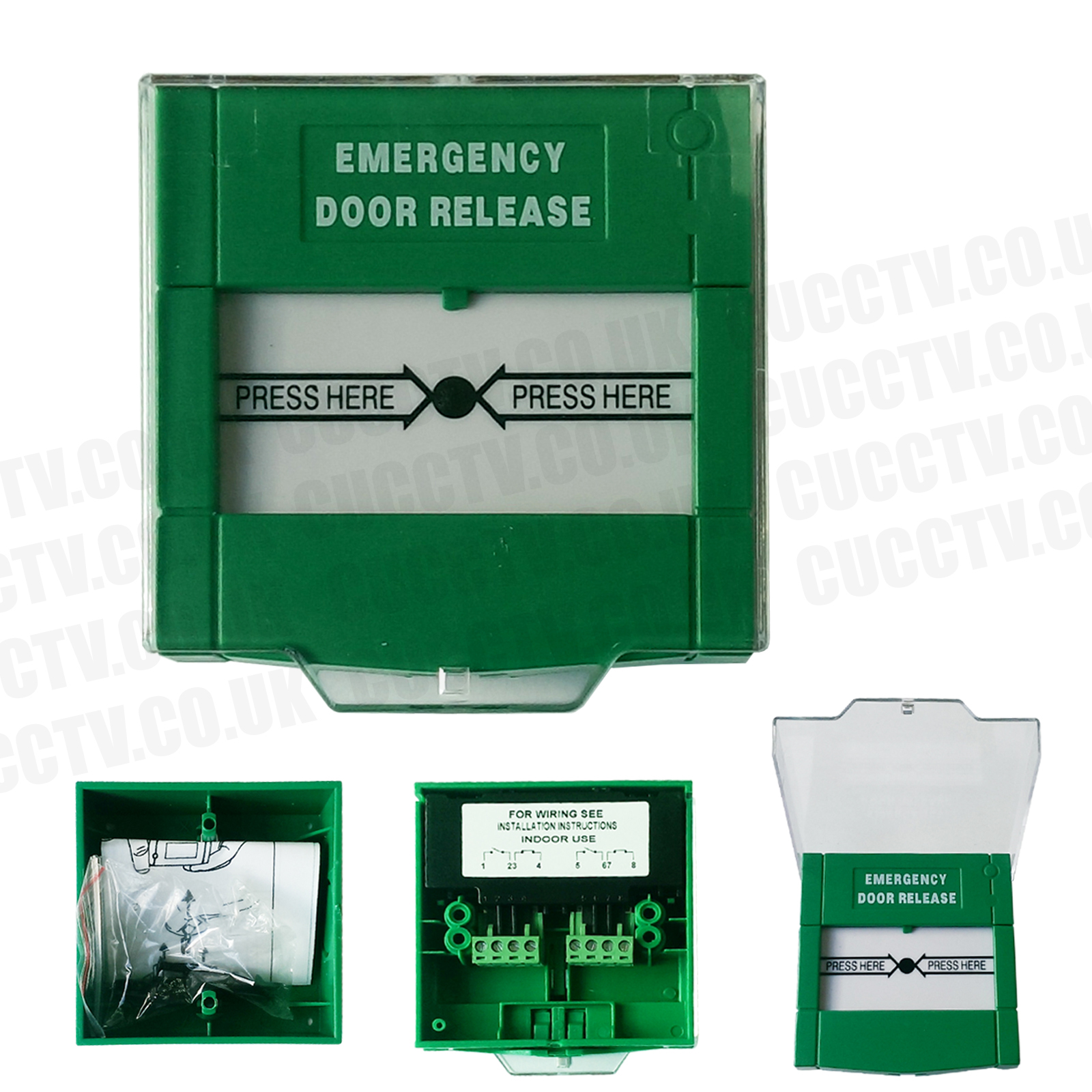 Resettable Emergency Door Lock Release Call Point For