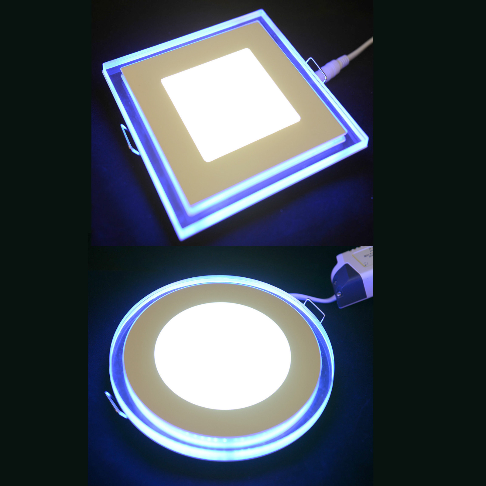 7w Led Recessed Ceiling Panel Flat Down Lights Bulb 3 Mode Light Switch Control