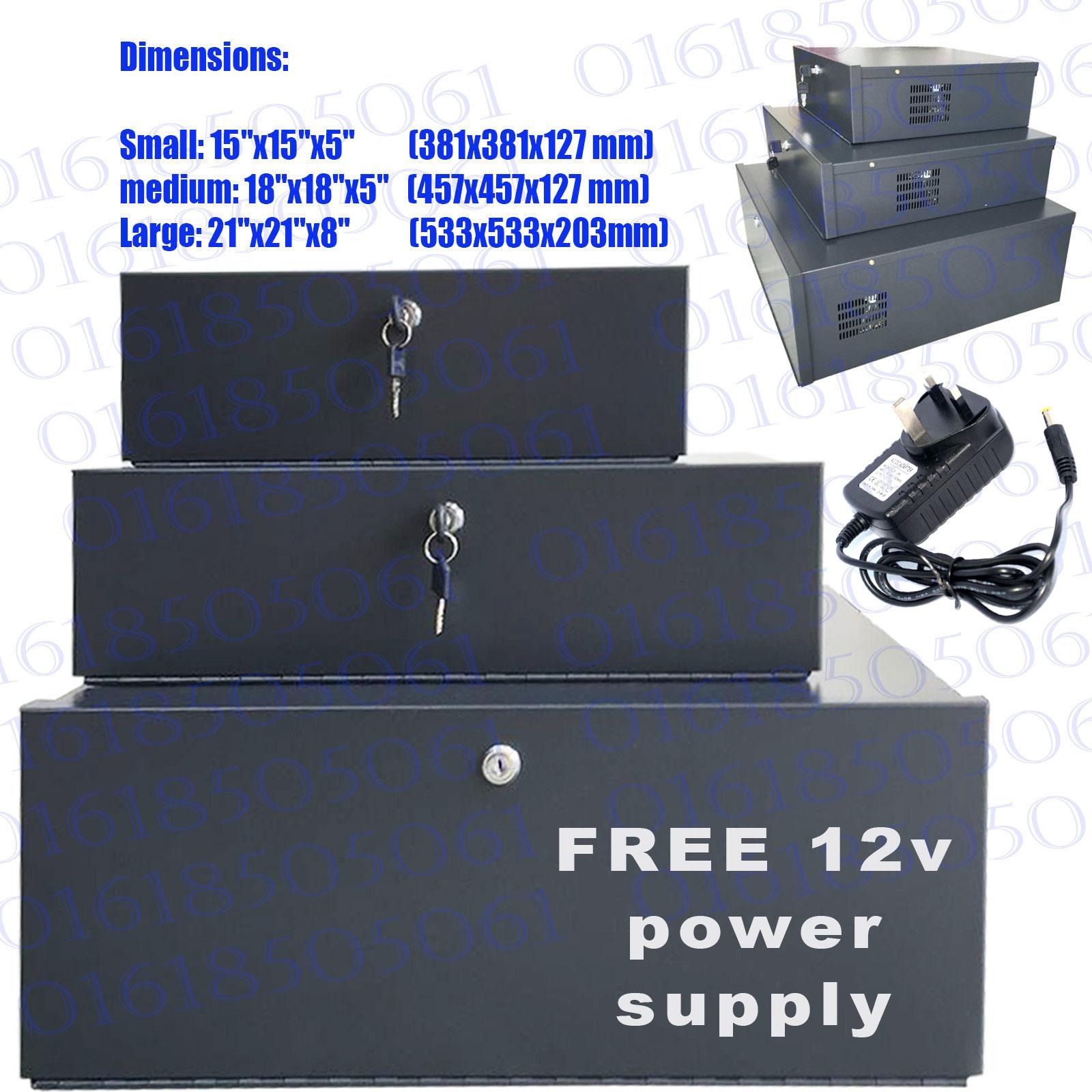 "Small CCTV DVR Lockable Safe Box Heavy Duty DVR Protection 15"" X 15"" X 5"""
