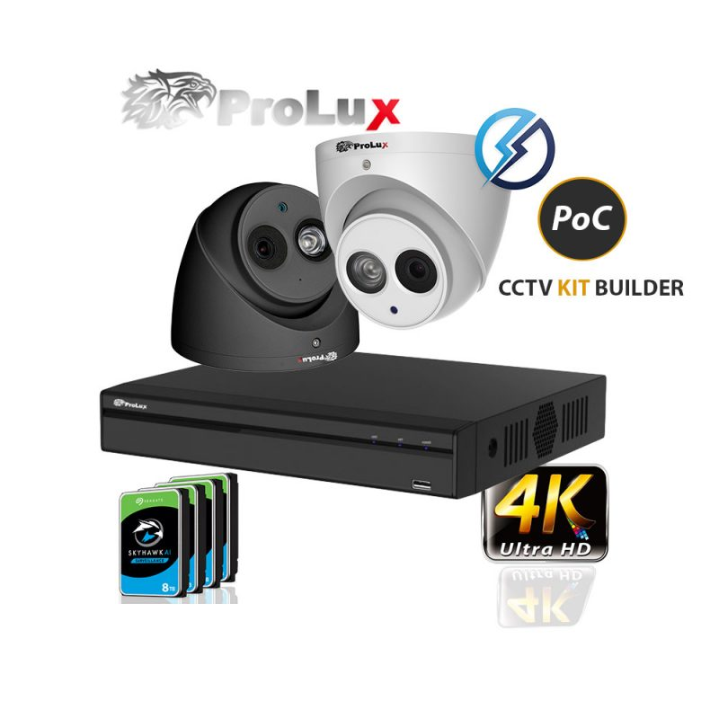 ProLuX 4K POC CCTV Camera KIT Builder