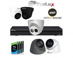 prolux 8mp 4k cctv Camera kit builder