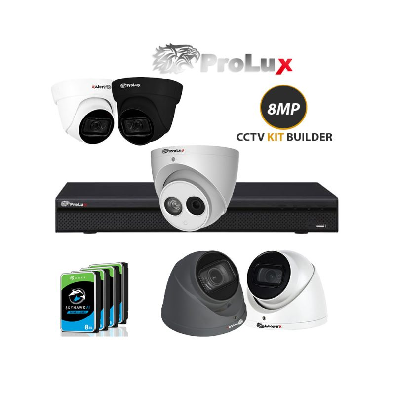 prolux 8mp 4k cctv Camera kit builder